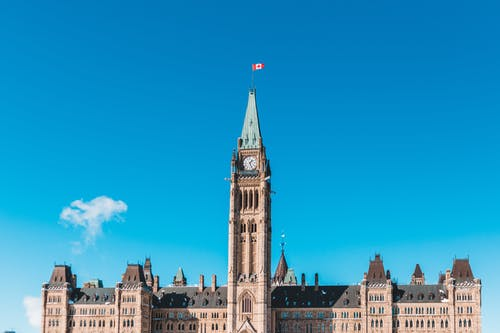 Peace Tower Building Under Blue Sky