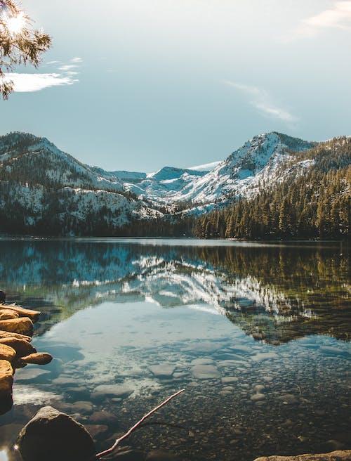 Lake Near Snow Covered Mountain