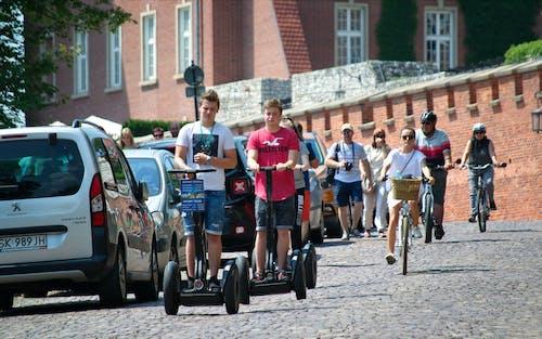 Tourists Riding Segways