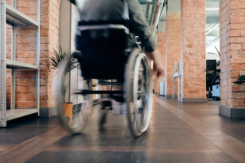 Photo of Person Using Wheelchair