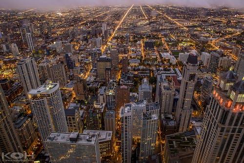 Free stock photo of aerial, art, buildings