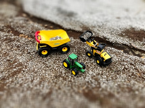 Free stock photo of construction, toys, truck