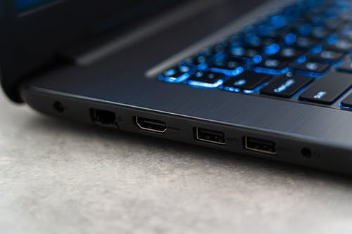 Close-Up Photo of Laptop's Usb Ports