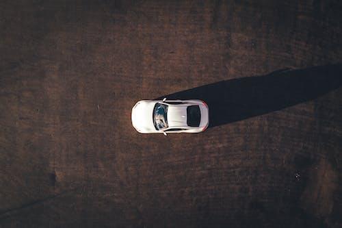 Bird's Eye View Photo Of White Car