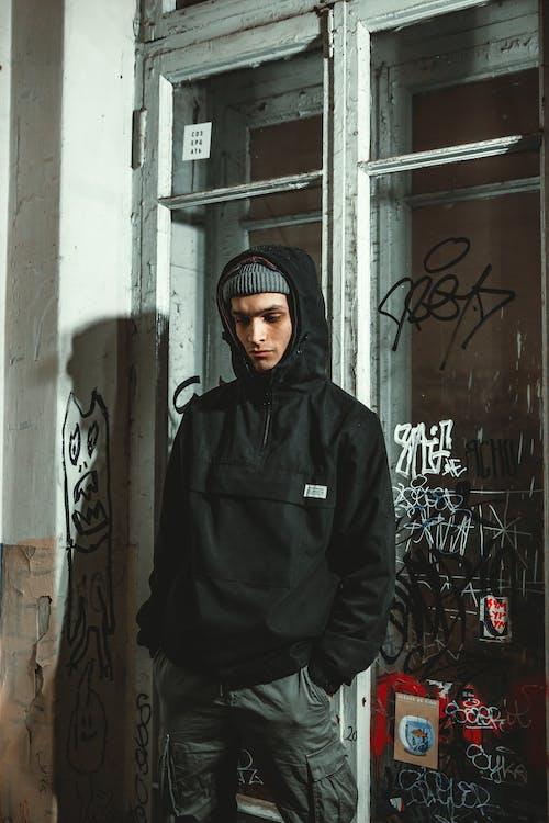 Photo Of Man Wearing Black Hoodie
