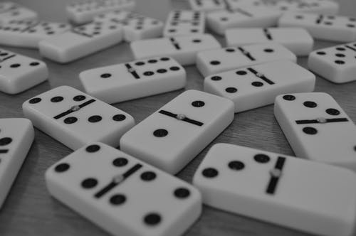 Close-Up Photo of Dominoes