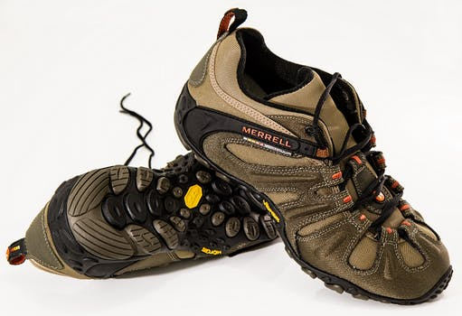 Brown and Black Merrell Hiking Shoes