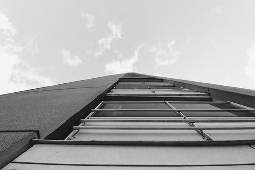 Free stock photo of architect, b&w, building, sky
