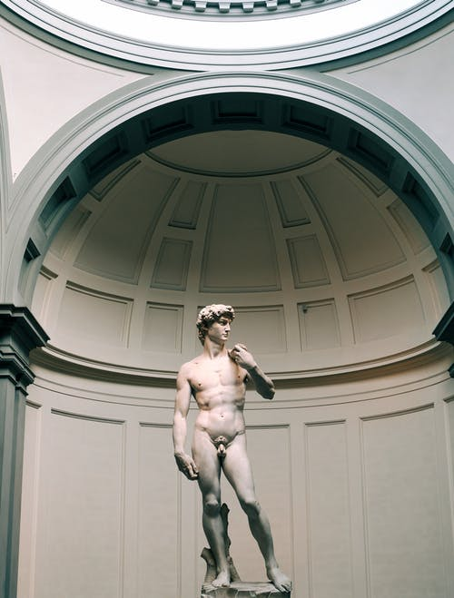 Nude Man Statue Inside Building