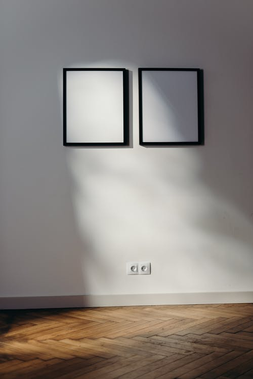 2 Black and White Wall Mounted Board