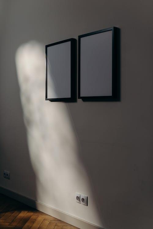 Gratis lagerfoto af afslappet, billedramme, blankt papir, bliv hjemme
