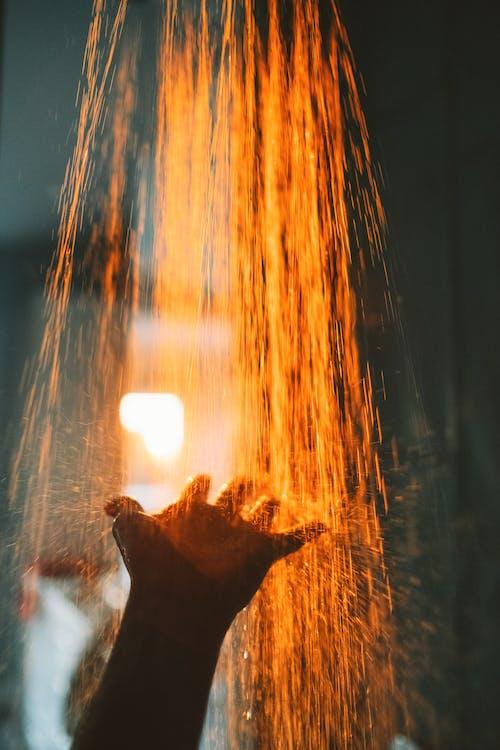 Brown Wood Burning during Night Time