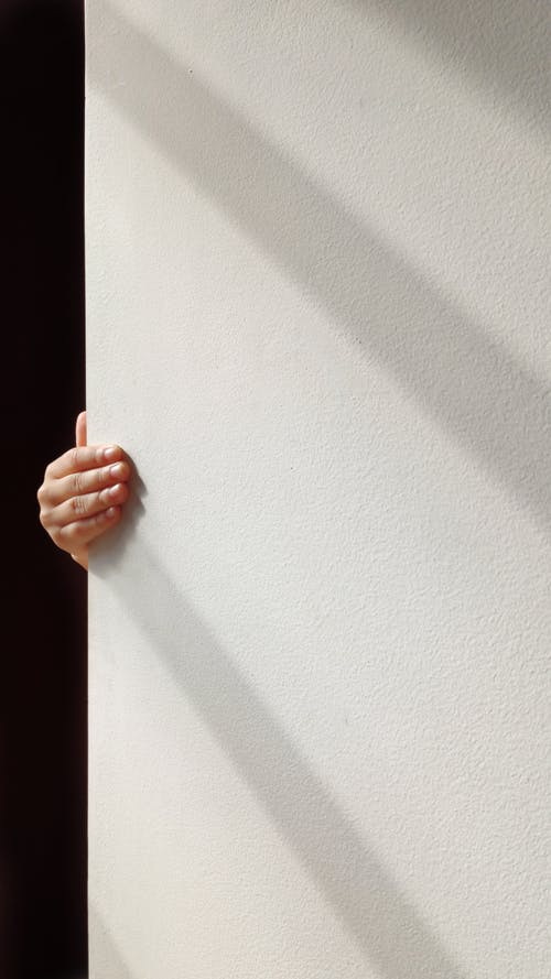 Person Holding White Wall