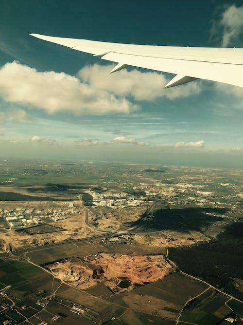 Безкоштовне стокове фото на тему «аеропорт, вікна літака, Денне світло»