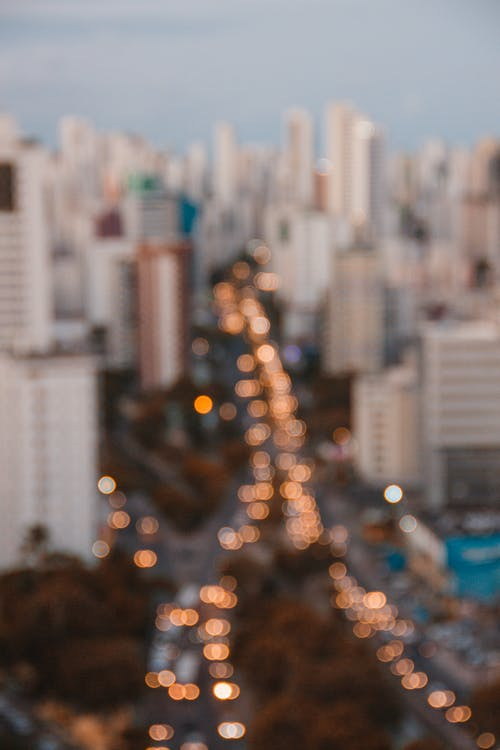Bokeh Photography of City Lights