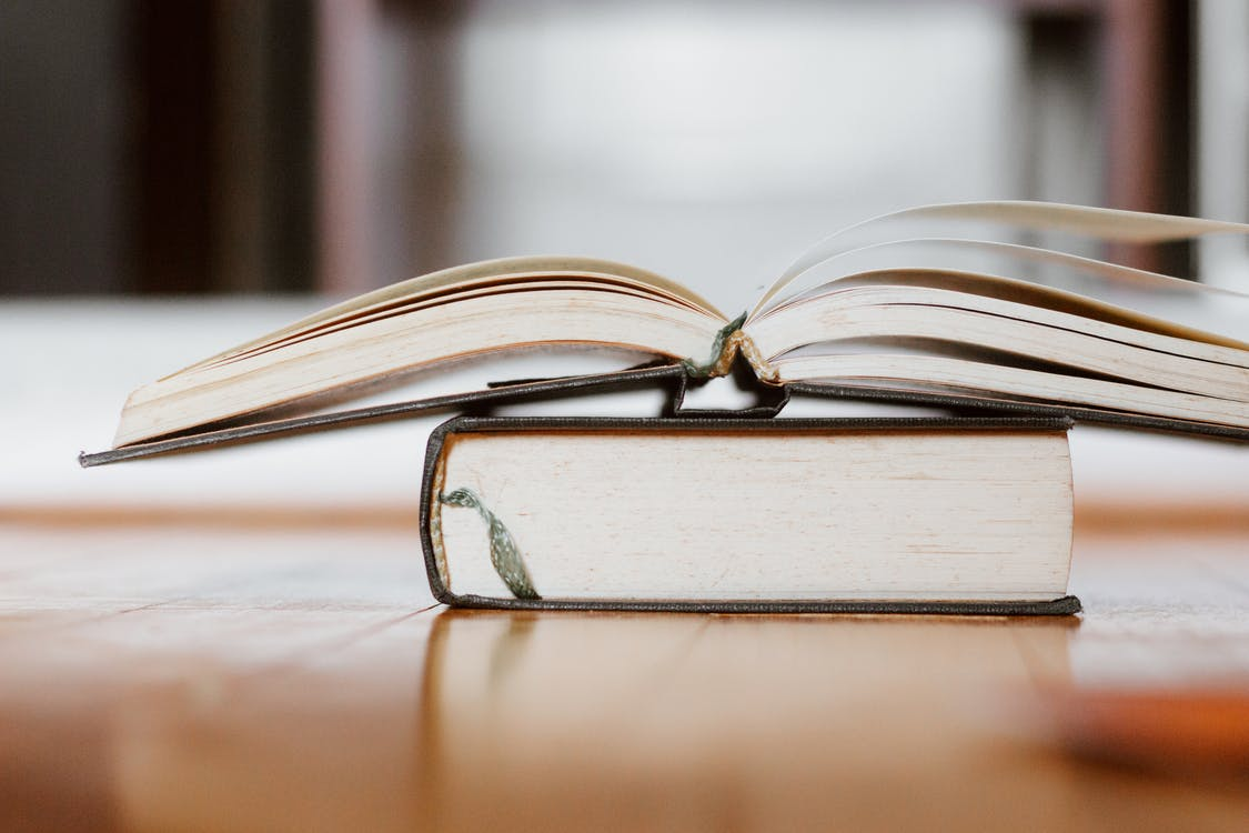 Close-Up Photo of Books