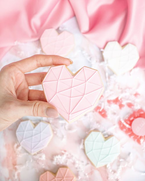 White and Pink Heart Paper