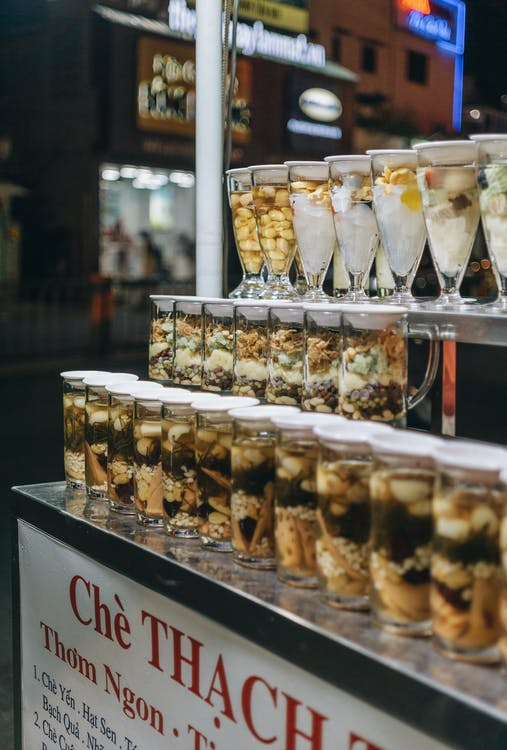 Food in Clear Glass Containers