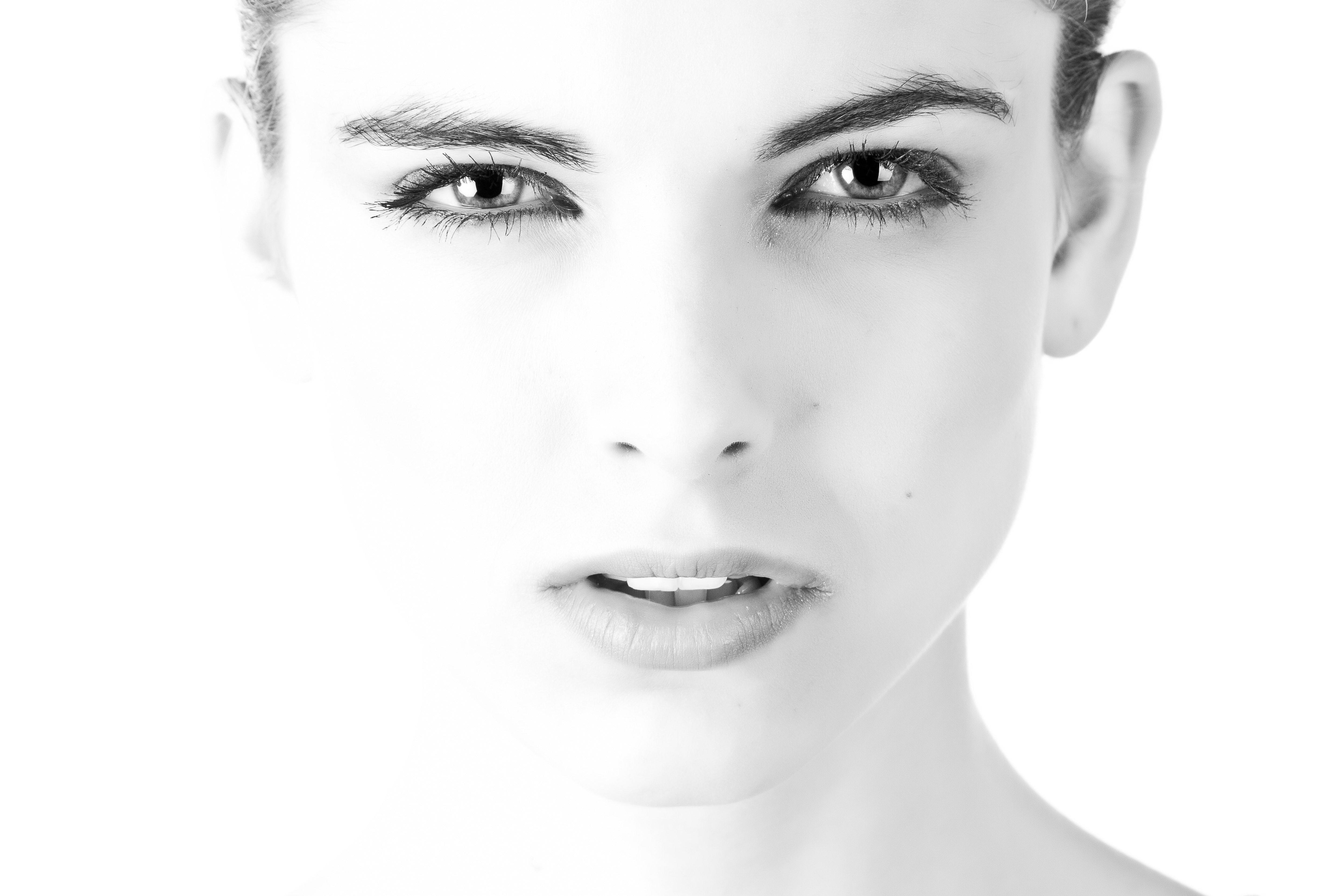 Black on white facials