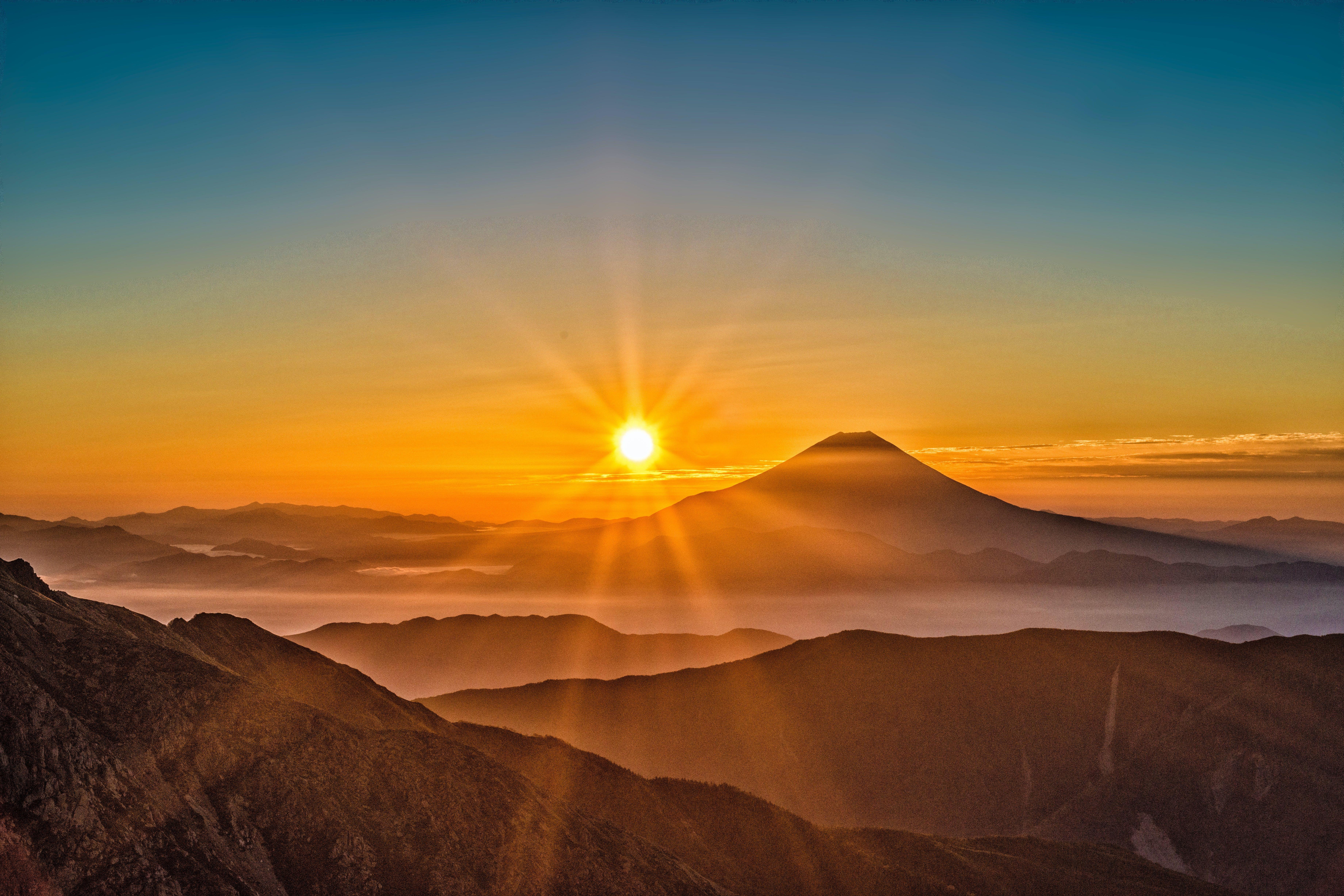 clouds, dawn, desert