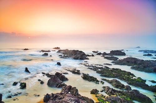 Gratis arkivbilde med bølger, daggry, dagslys