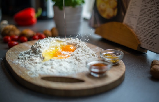 Free stock photo of blur, egg, flour, cooking