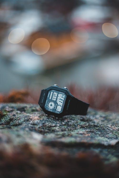 Black Digital Watch at 07:13