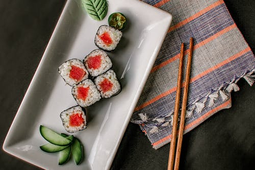 Photo Of Sushi Rolls On Plate
