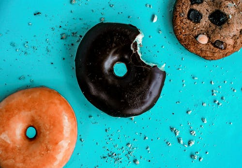 Photo Of Cookie Beside Donut