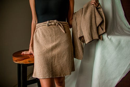 Woman Wearing Brown Skirt