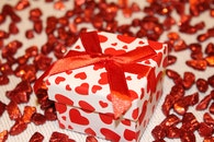 red, gift, present