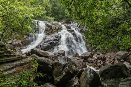 Waterfalls on Rocky Ground