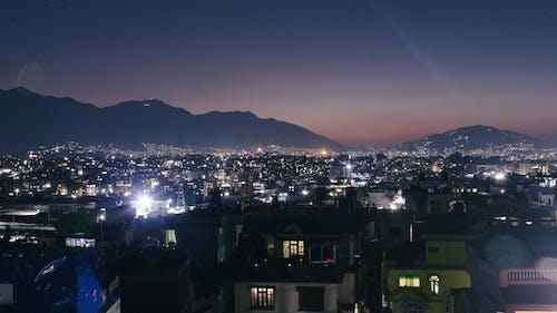 Free stock photo of city, landscape, night