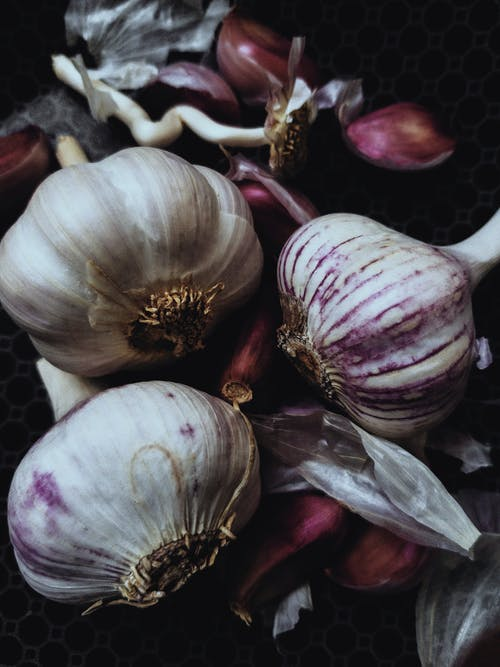 White Garlic and Purple Onion