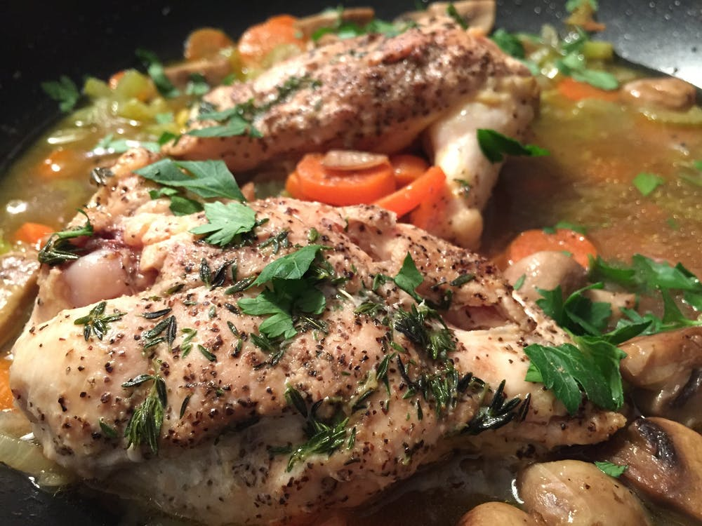 Chicken With Parsley and Sauce
