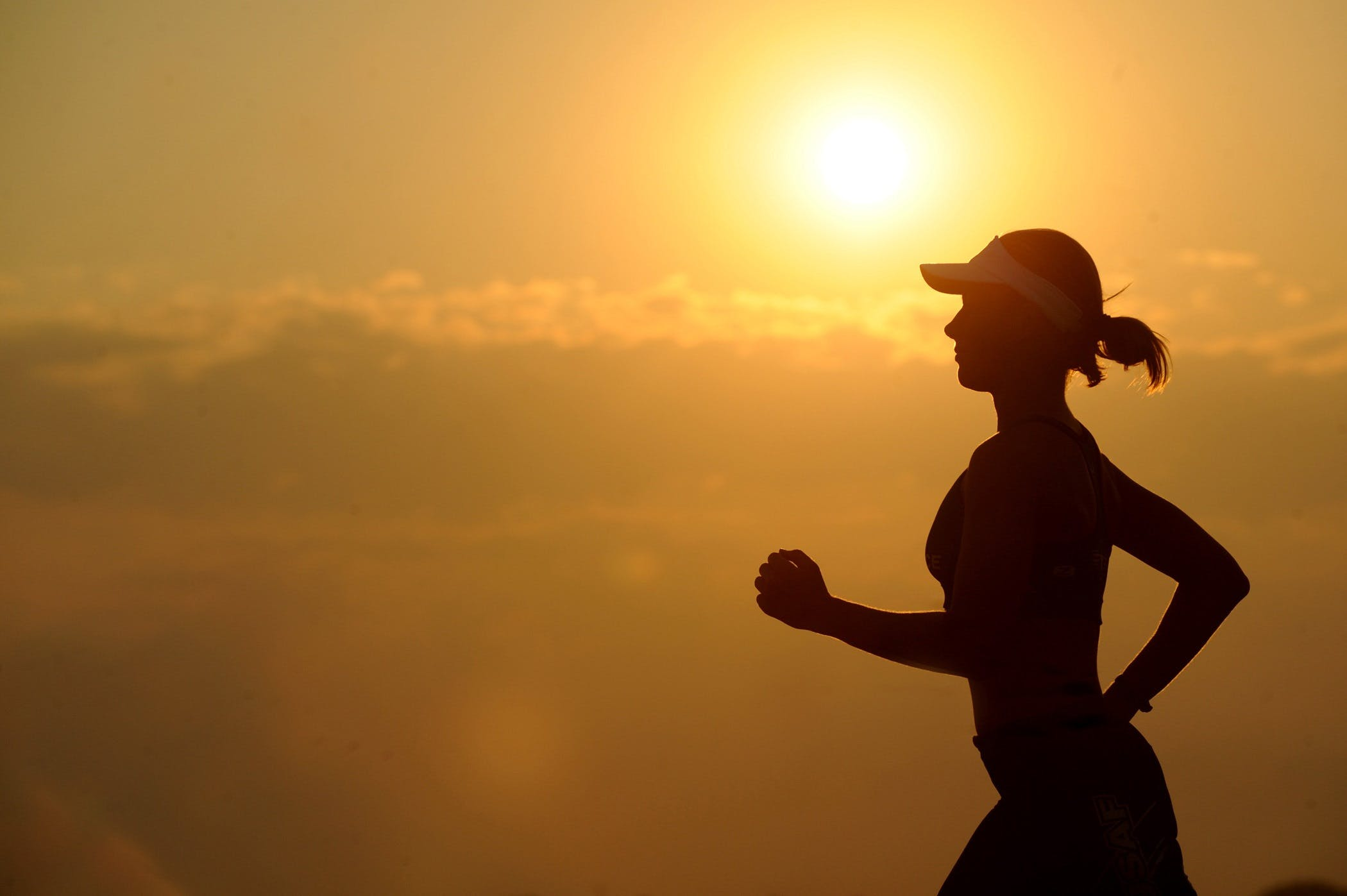 dayanıklılık, dişi, Fitness, gün batımı içeren Ücretsiz stok fotoğraf