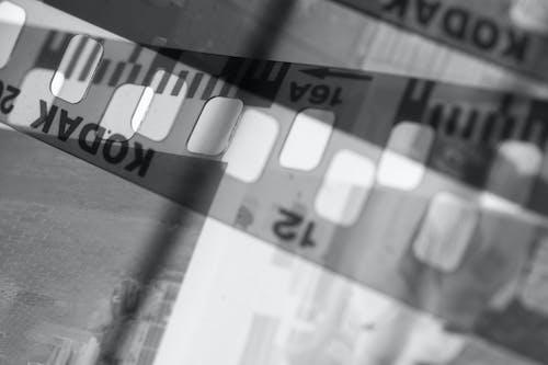 Close-up Shot of an Analogue Camera Filmstrip