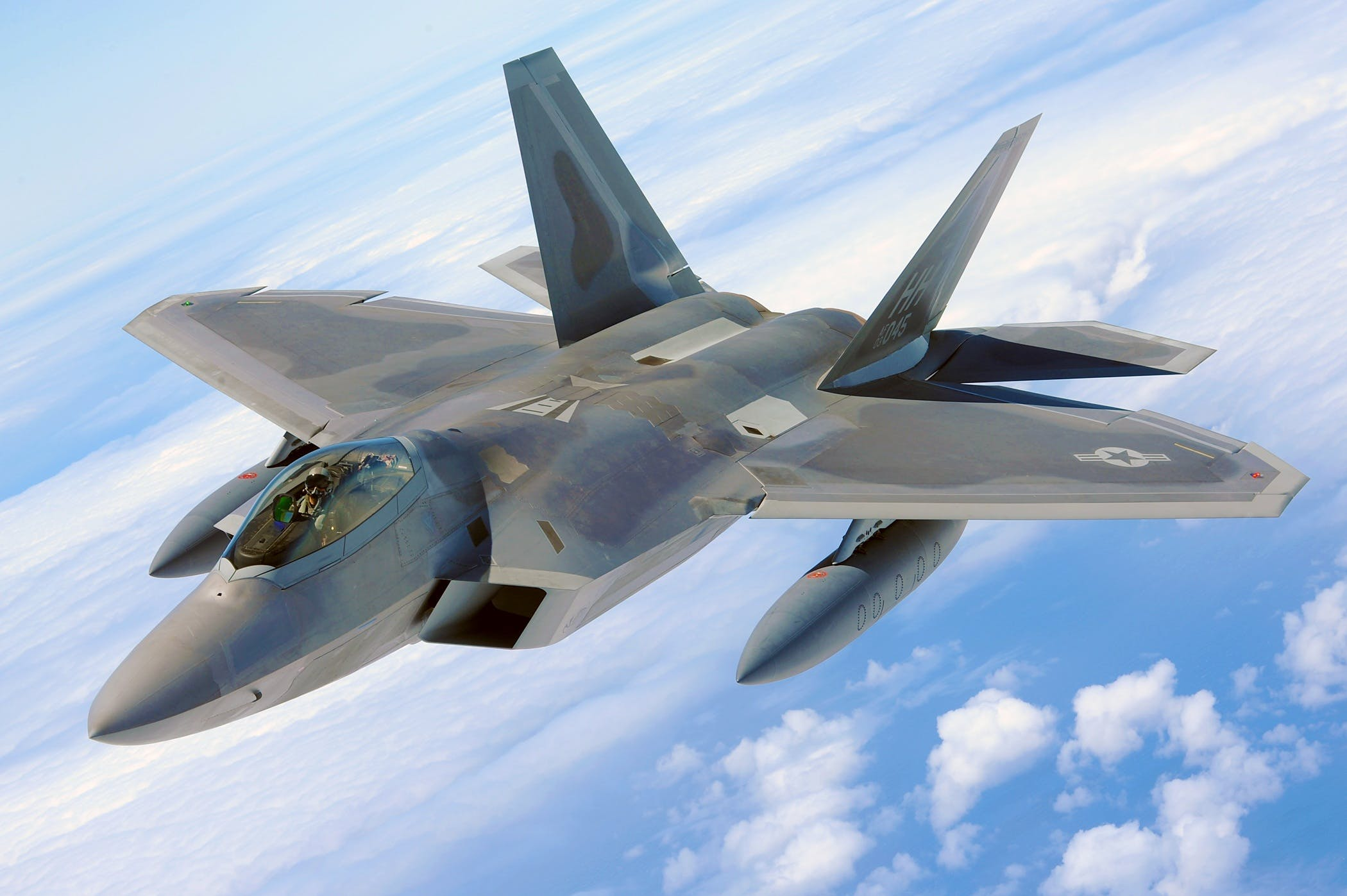 bojovník, f-22, let
