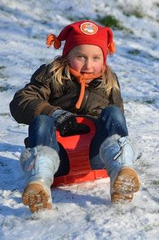 Free stock photo of snow, people, girl, winter
