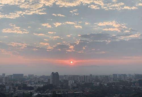 Free stock photo of beautiful sunset, blue sky, city sunset