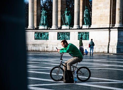 Free stock photo of bicikli, boldogság, sötétzöld