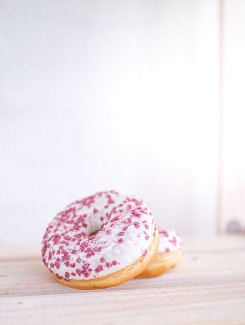 Doughnut With White Cream on Top