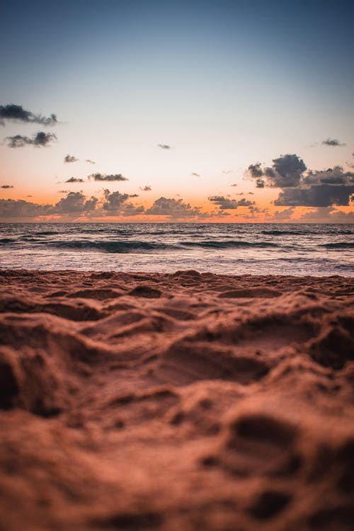 Brown Sand and Sunset