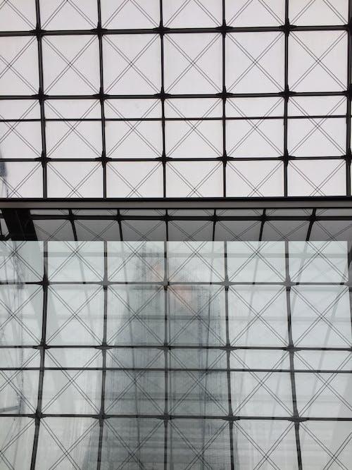 Black Metal Frame With Glass Windows