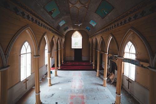 Interior of abandoned catholic church