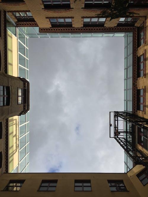 Black Metal Ladder Near Building