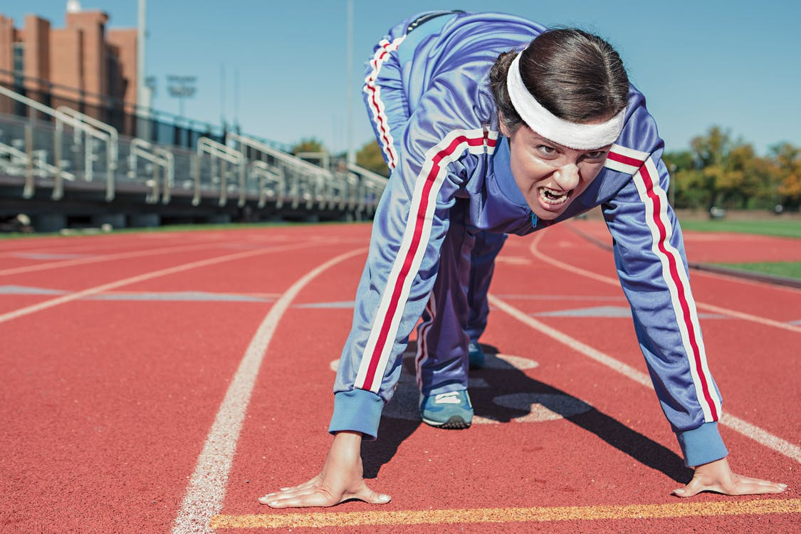 afición, atleta, campo de deportes