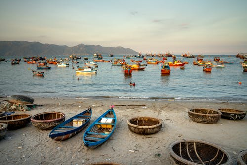 Colorful Boats on The Sea