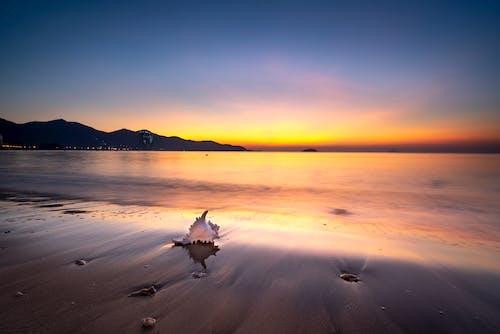 Δωρεάν στοκ φωτογραφιών με skyscape, άμμος, αντανάκλαση, απόγευμα