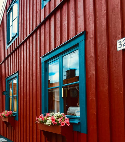 Free stock photo of blue, family house, glass windows